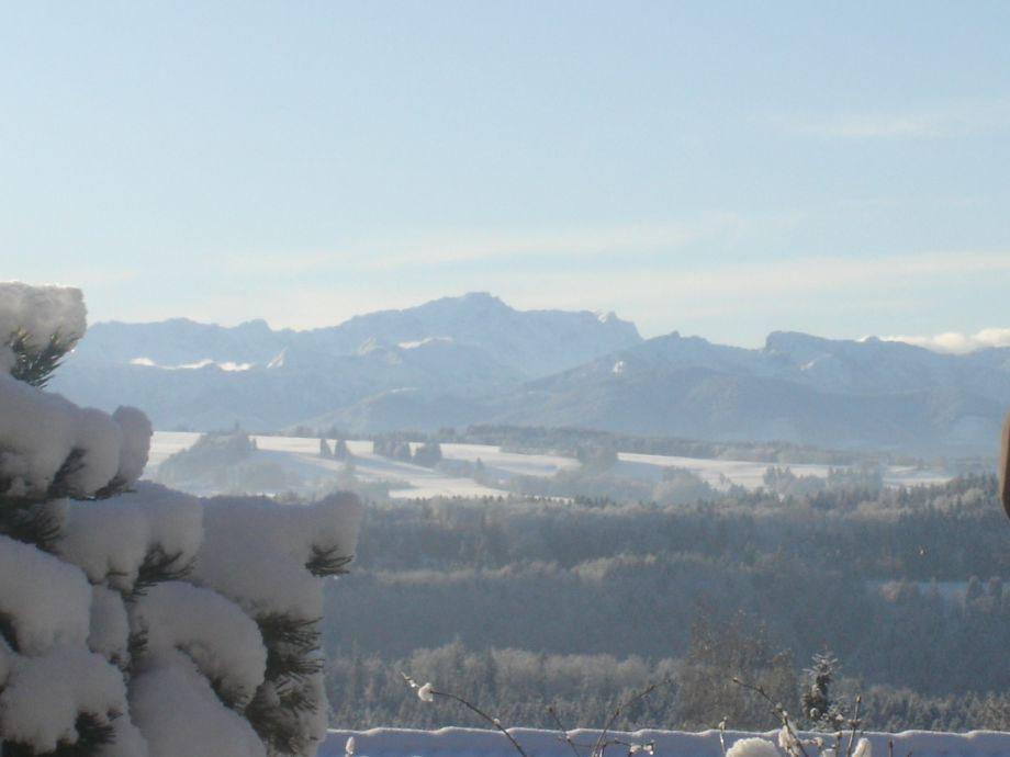 Winterstimmung Zugspitze Teil des Alpenpanoramas