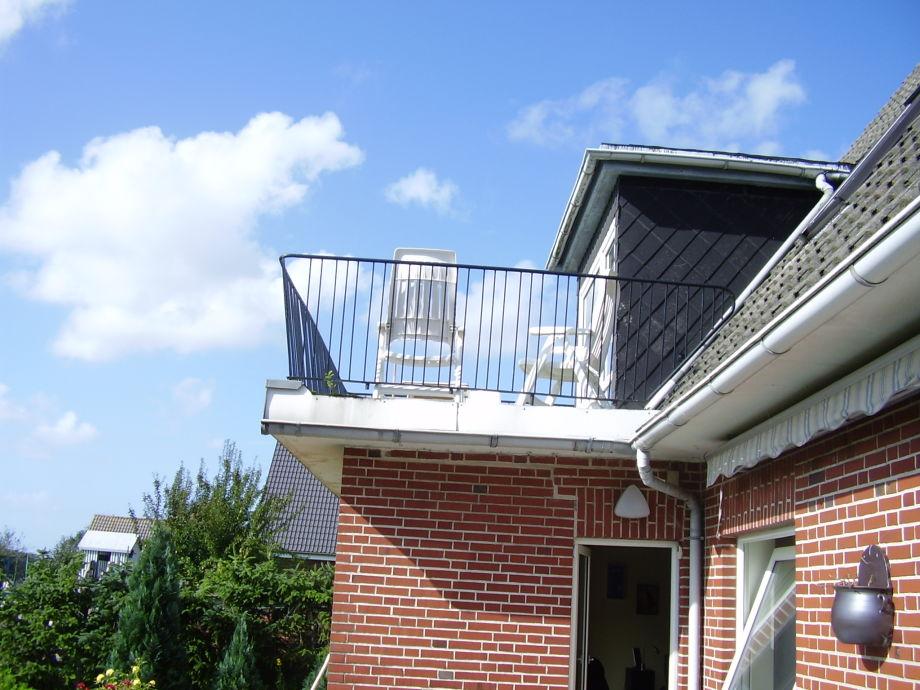Dachterasse mit Blick nach Süden über den Osterkoog