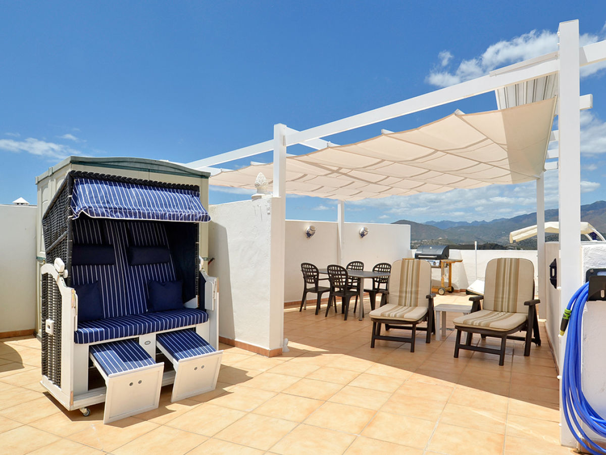 Pergola Dachterrasse ferienwohnung in mijas golf mit 100m dachterrasse costa sol