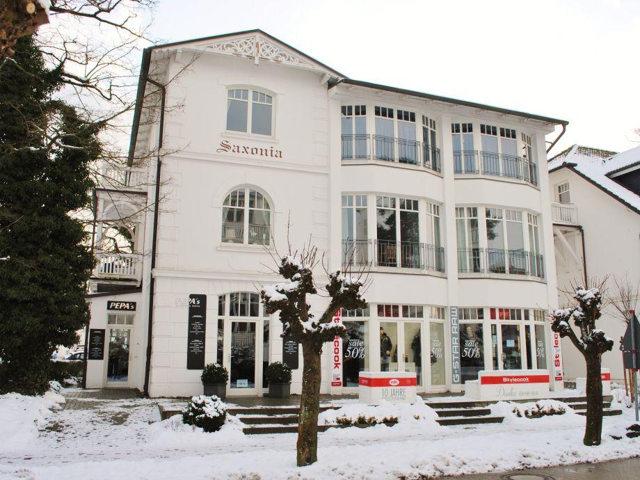 Villa Saxonia im Winter