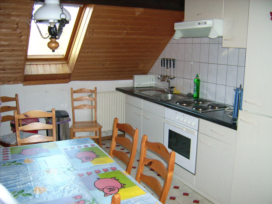 Gut eingerichtete einbauküche