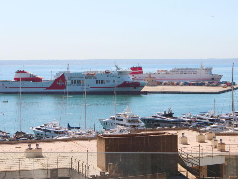 Der Blick auf den Hafen