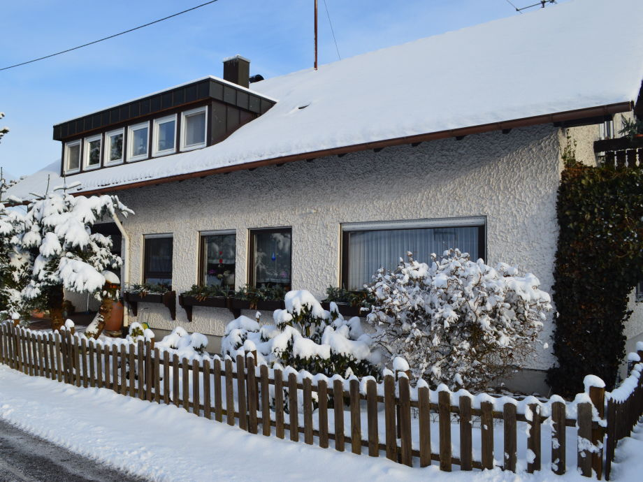 Our house in winter