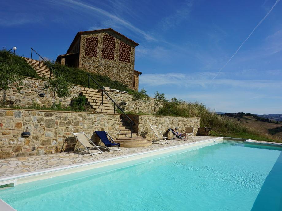 Casa di Sotto von der Pool Seite