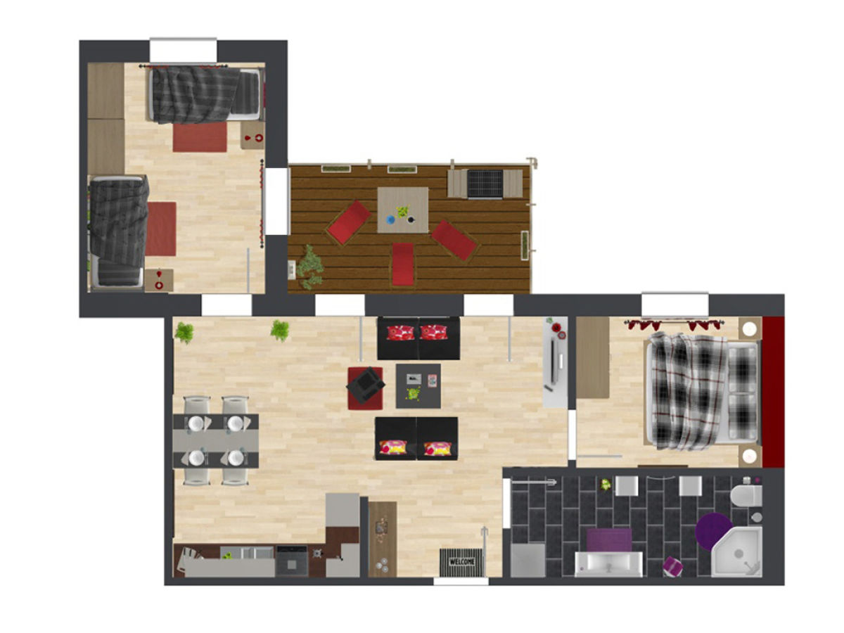 ferienwohnung villa patricia harmonie borkum firma fewo ko karin kohne tausch. Black Bedroom Furniture Sets. Home Design Ideas