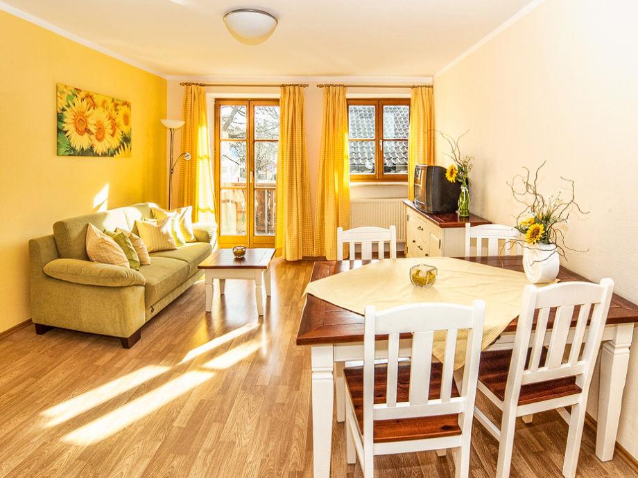 Wohnzimmer der Ferienwohnung Sonnenblume