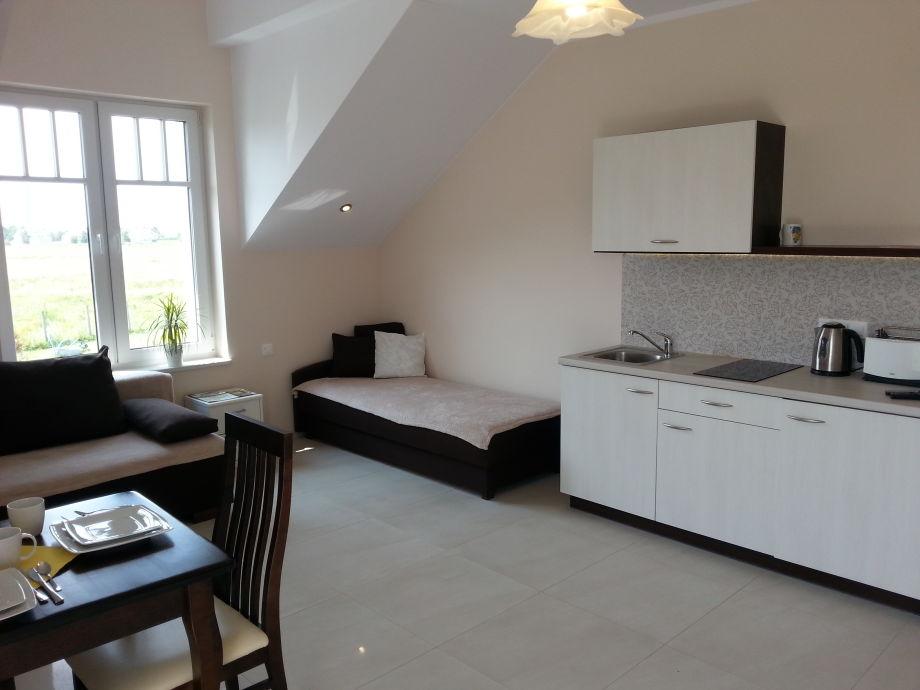 1-zimmer-apartment auf dem akazienhof, polnische ostsee, grzybowo ... - Ein Zimmer