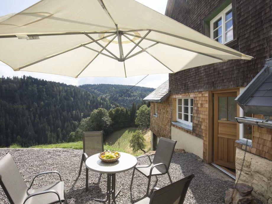 Terasse mit wunderbarem Schwarzwaldblick