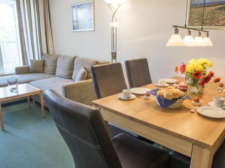 Wohn-/Essbereich in der Ferienwohnung
