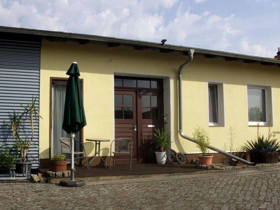 Fassade Ferienzimmer Carmen / Eingang