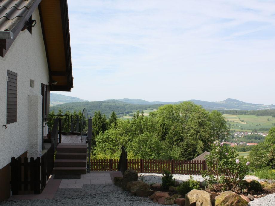 Der Panoramablick vom Ferienhaus