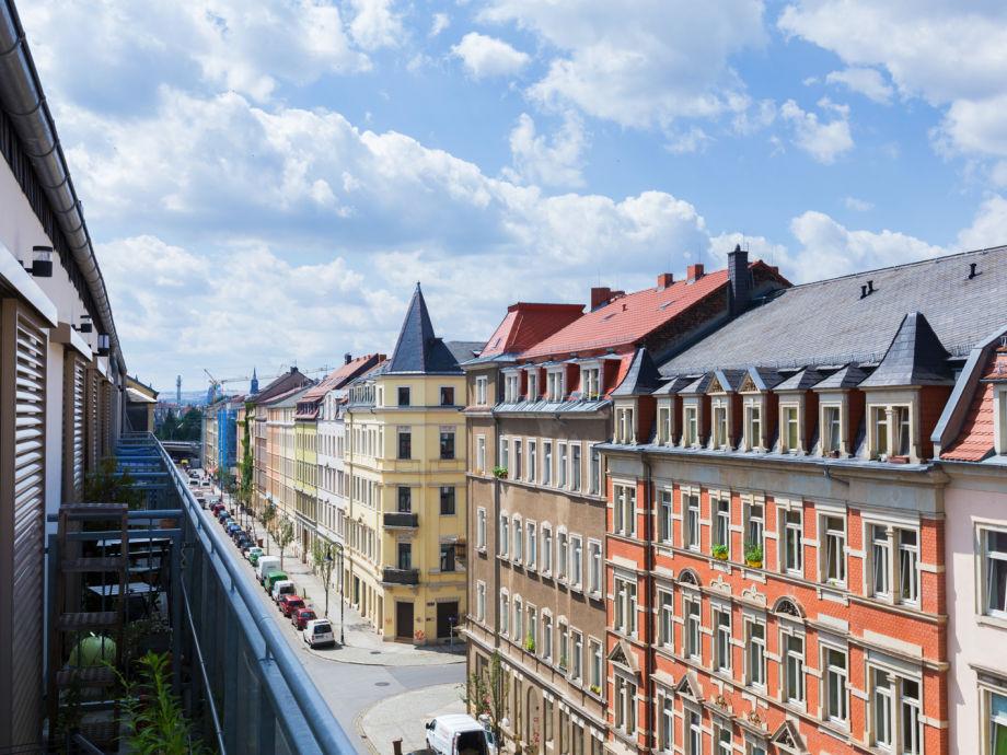 Ferienwohnung Style Penthouse Dresden Neustadt Cafe Wohnzimmer