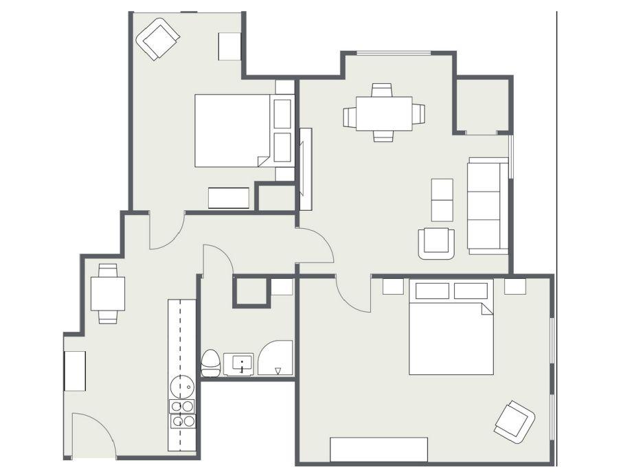 ferienwohnung app n 8 alter konsumverein sylt familie apel. Black Bedroom Furniture Sets. Home Design Ideas