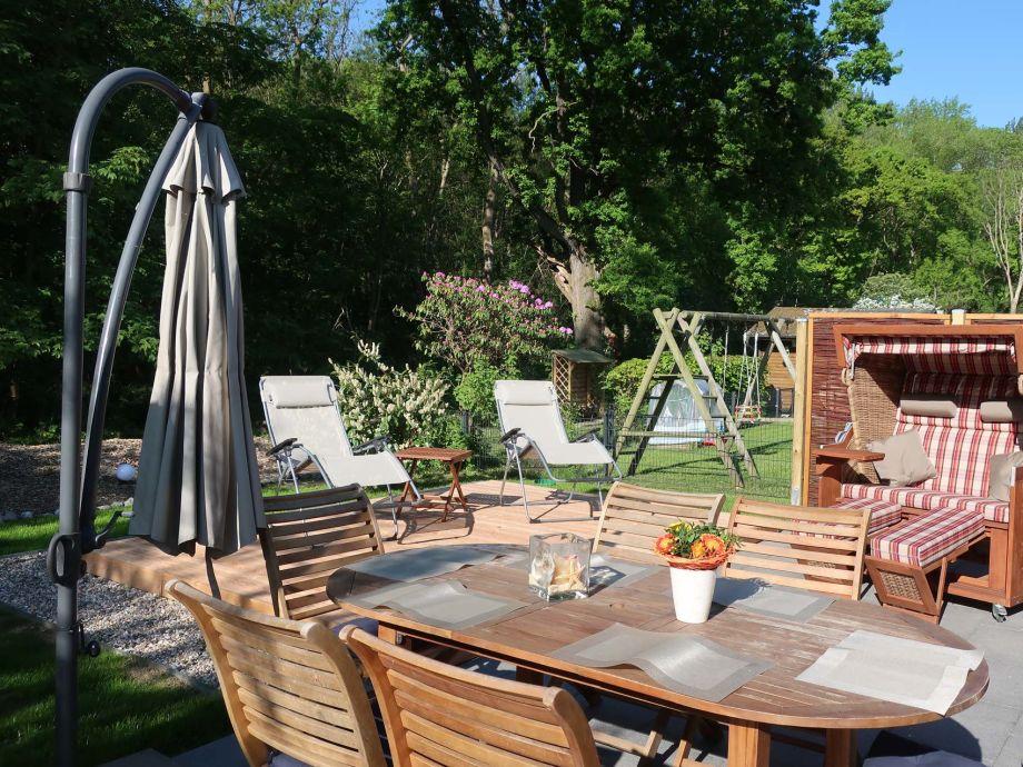 Garden, Patio with wooden deck