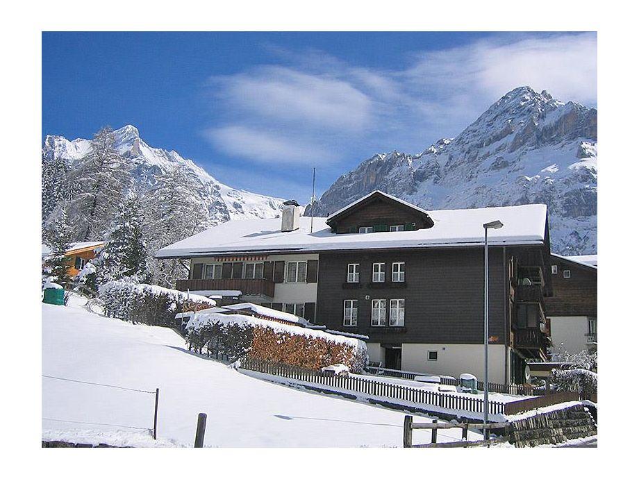 Die Ferienwohnung Alpenglühn im Winter