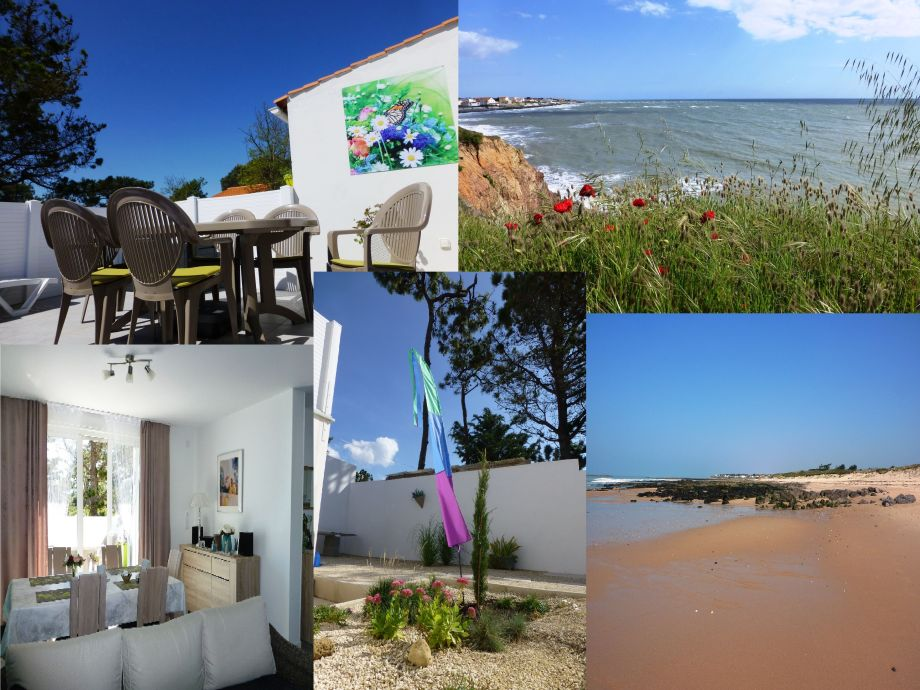 Terrasse, Wohnzim., Garten, Steilküste, Strand