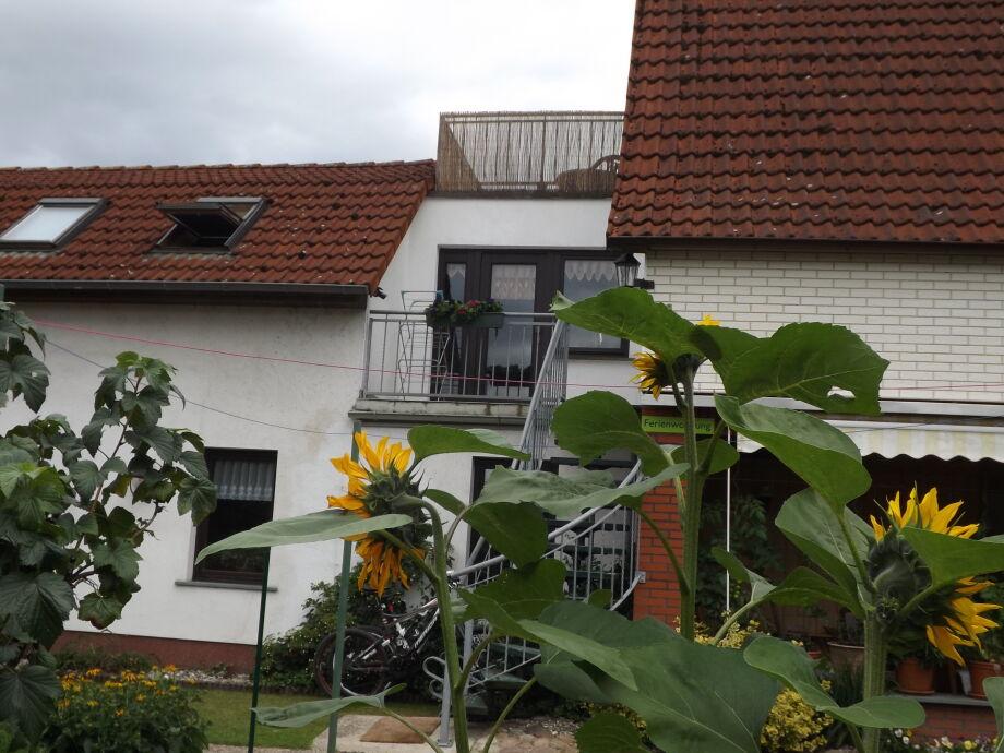Blich auf die Ferienwohnung mit gr. Dachterrasse