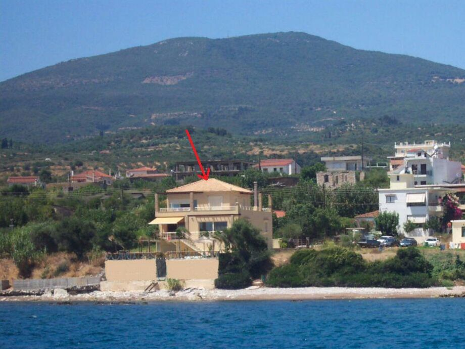 the villa as seen from the sea