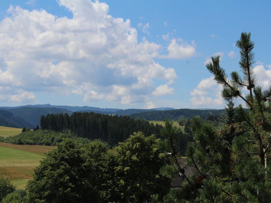 Blick vom Balkon auf den Feldberg