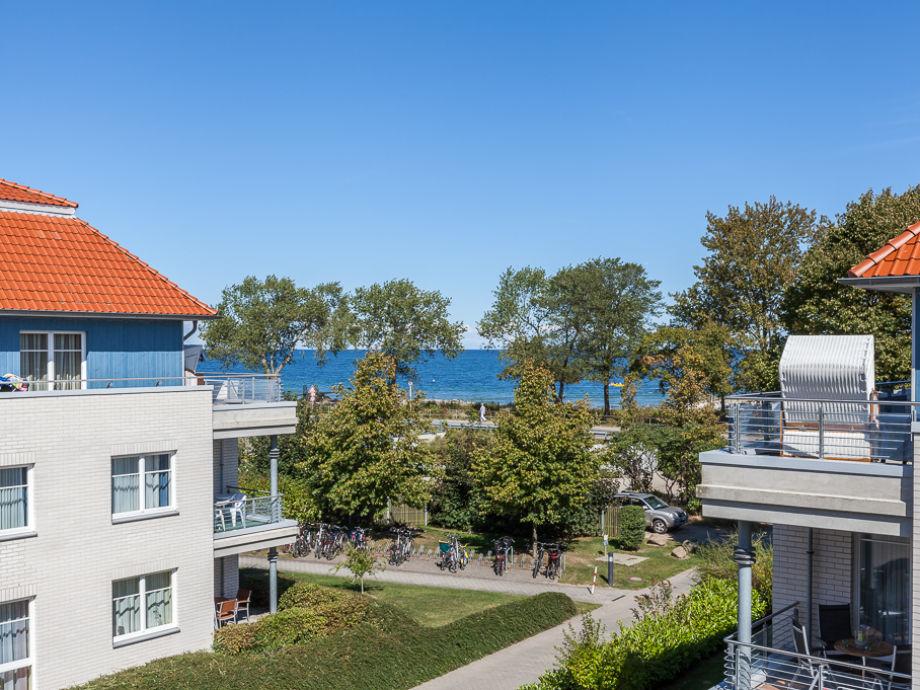 Blick von der Anlage zur Ostsee