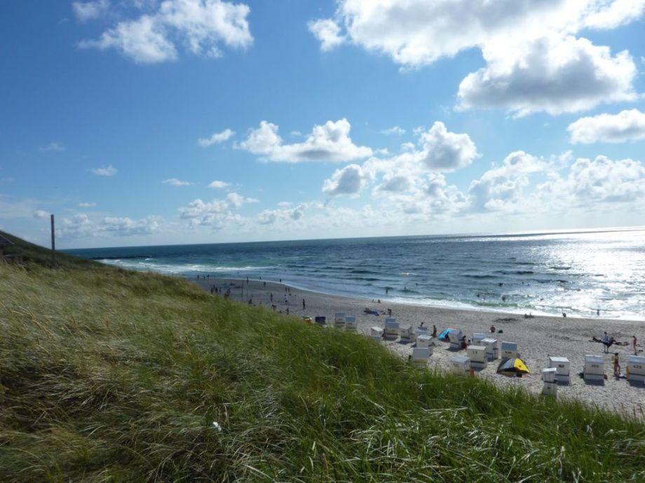Blick von der Wenningstedter Düne aufs Meer
