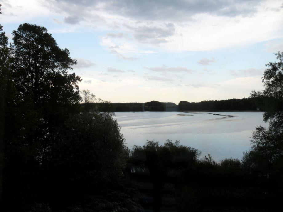 Blick auf dem Stolper See vom Schlafzimmer
