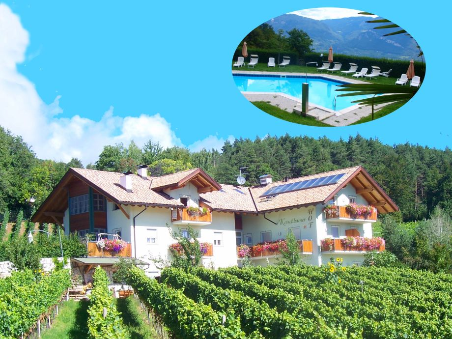 Kerschbamerhof inmitten eigener Weingärten