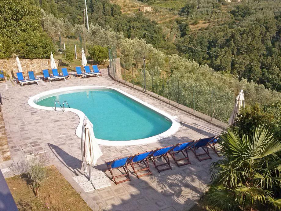 der schöne Pool der Casa di Piero