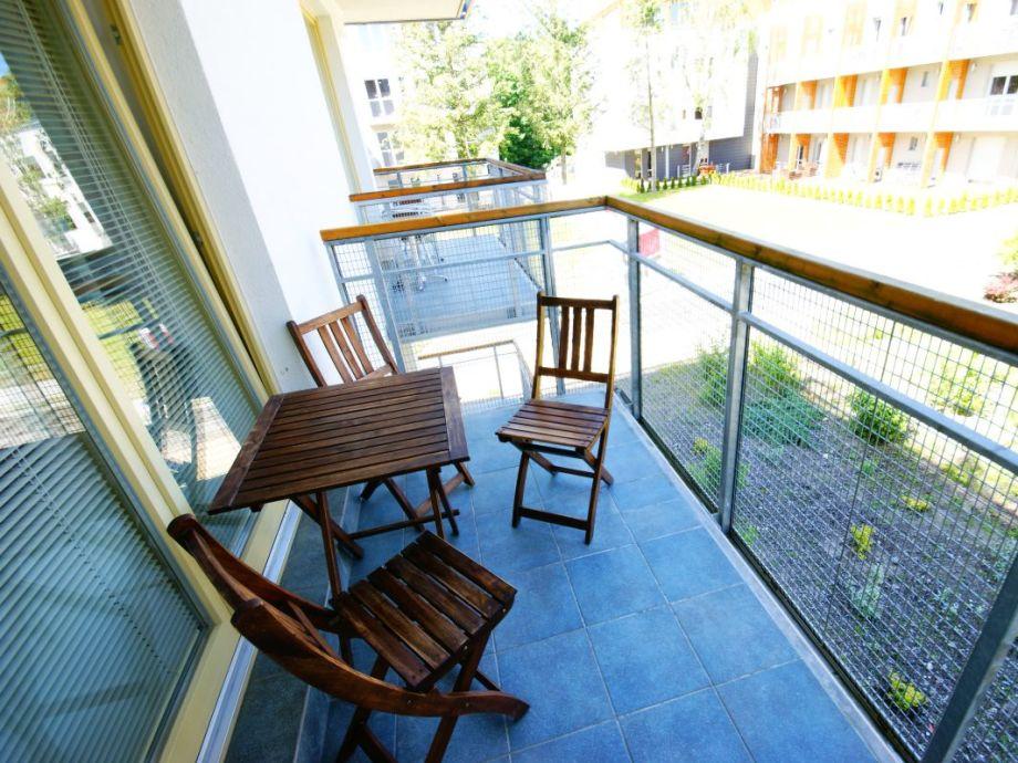 Balkon der Ferienwohnung Zacisze Lesne II (1.05)