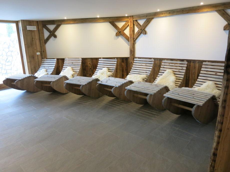 Alpiner, sehr schöner Ruhraum mit Sauna und Jakuzzi...