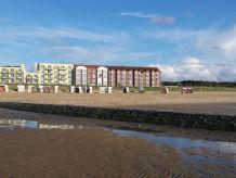 Ferienwohnung direkt am Strand mit Meerblick (4 Pers)