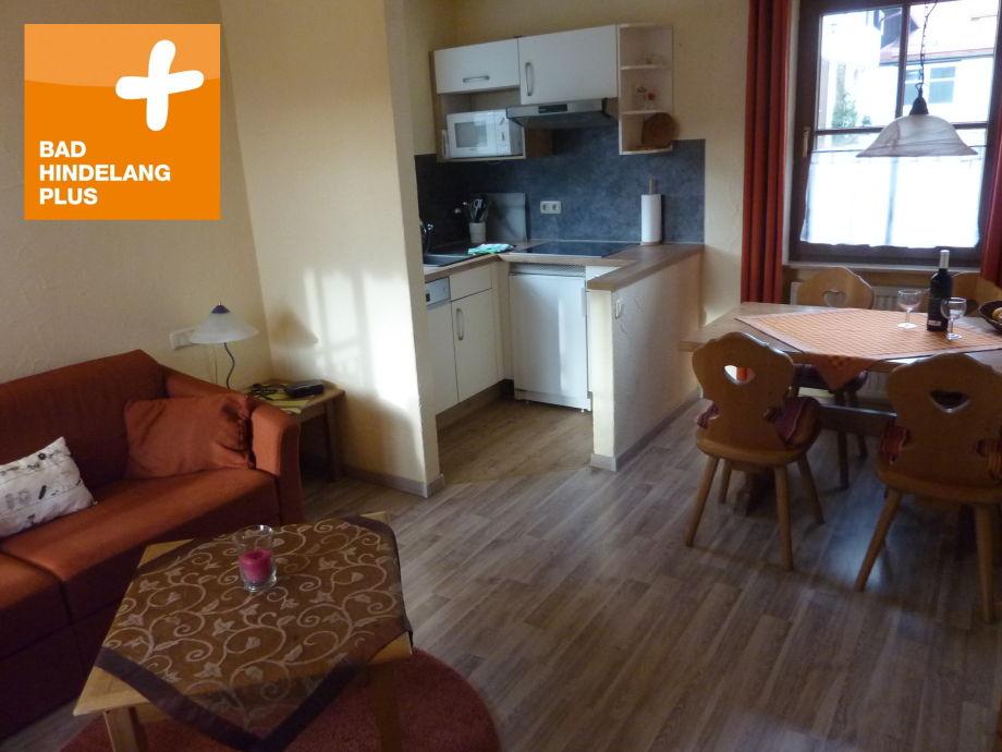 Wohn-Eßzimmer mit Küche