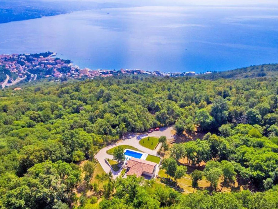 Aerial View of Villa Marron