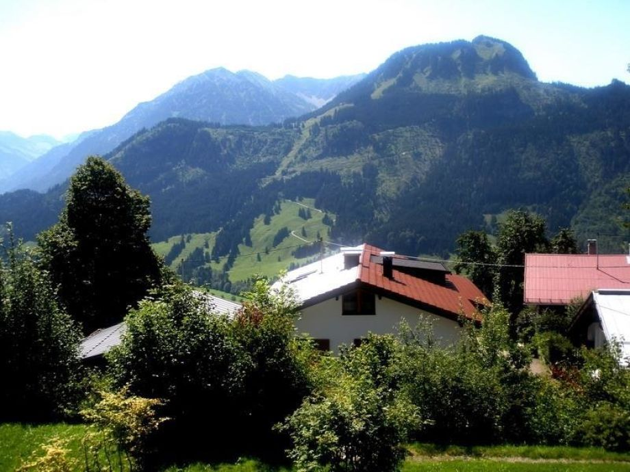Ausblick Valentinsbergblick auf Alpenkette