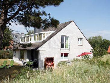 Ferienhaus Weißes Dünenhaus mit Meerblick