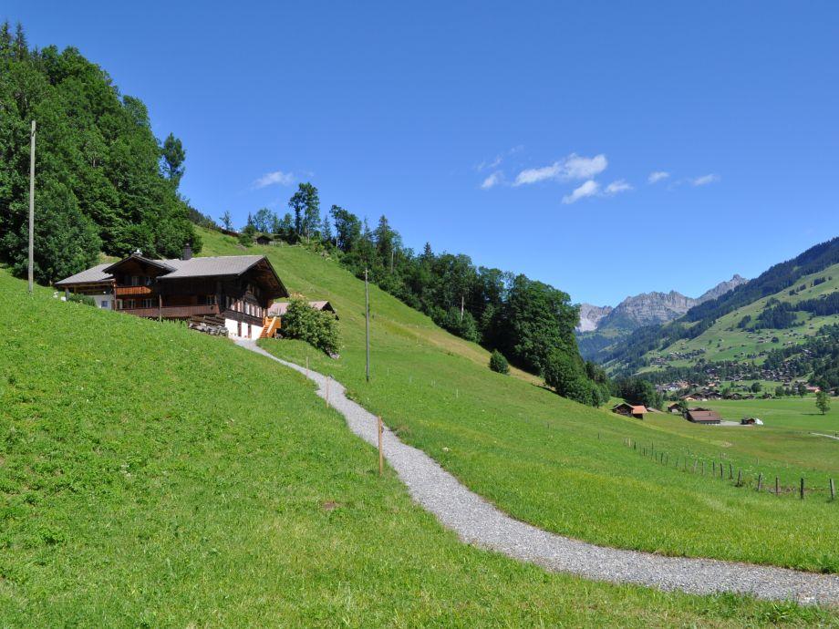 Blick nach Dorf Lenk