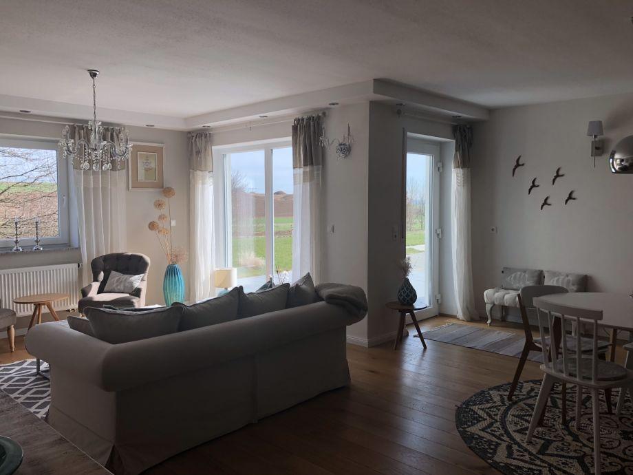 Das Wohnzimmer und die Atmosphäre der Unterkunft