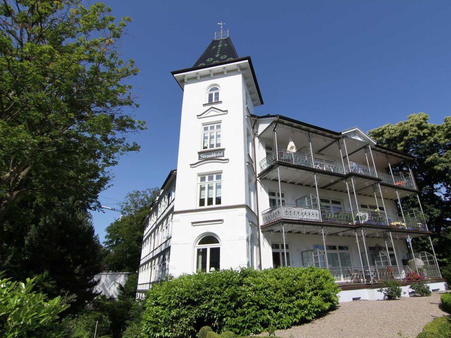 Außenaufnahme in der Villa Stranddistel (WE4.1, Typ B)