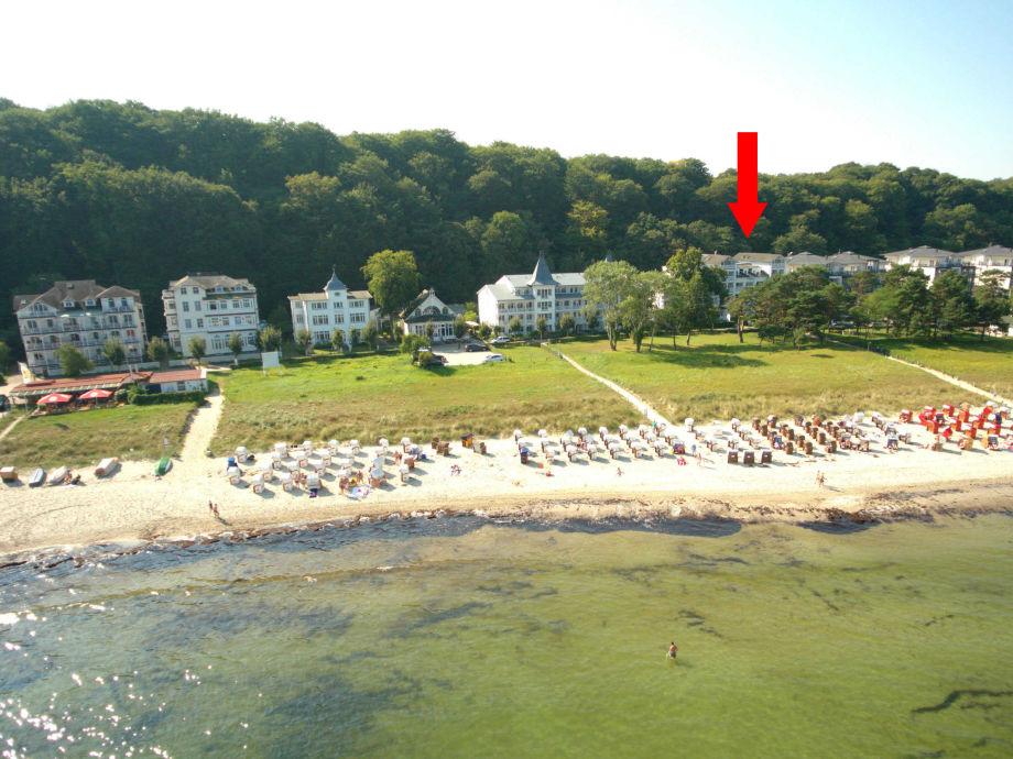 Außenaufnahme im Aparthotel Ostsee (WE15, Typ F)