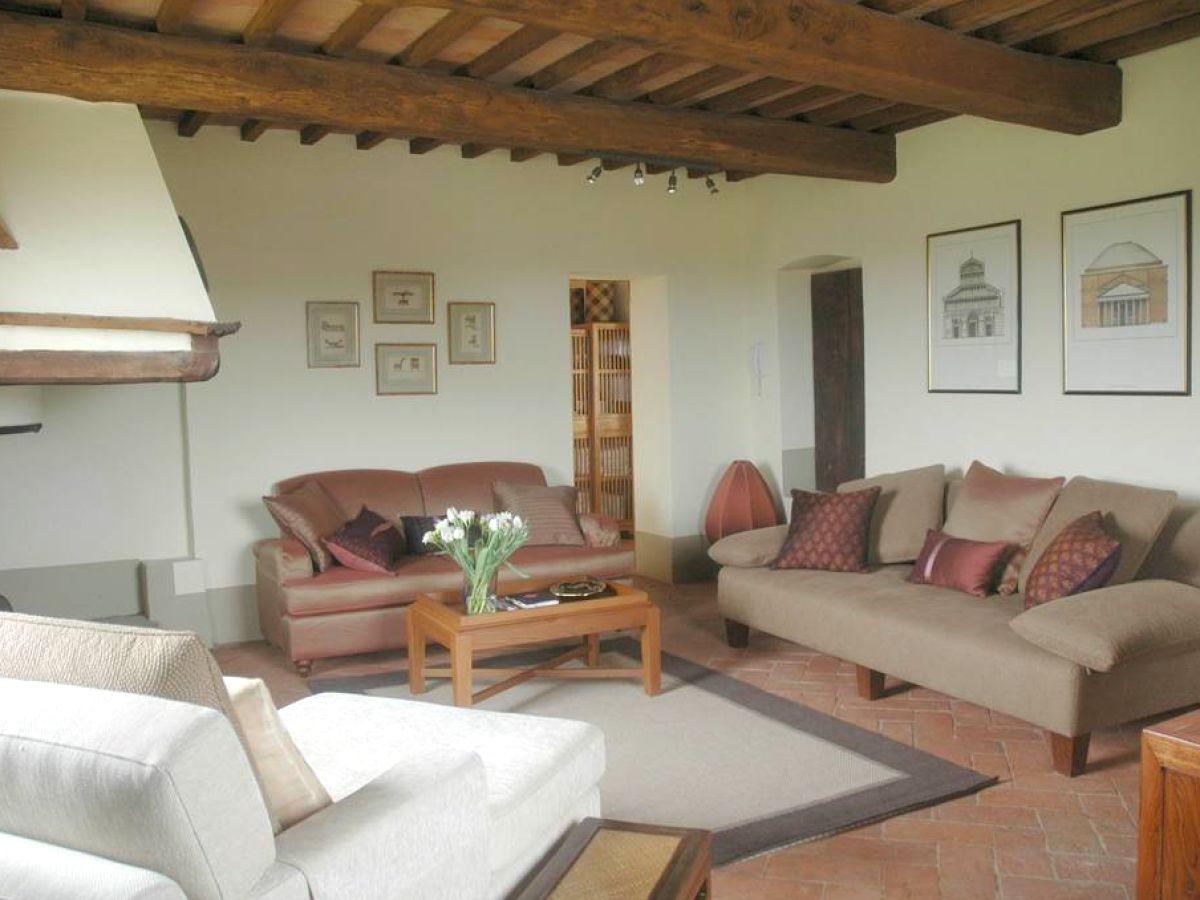 Landhaus colombaio i53041 200 toskana asciano firma for Eingerichtete wohnzimmer