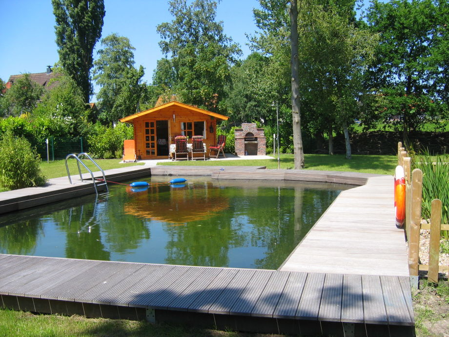Swimming pond in the garden