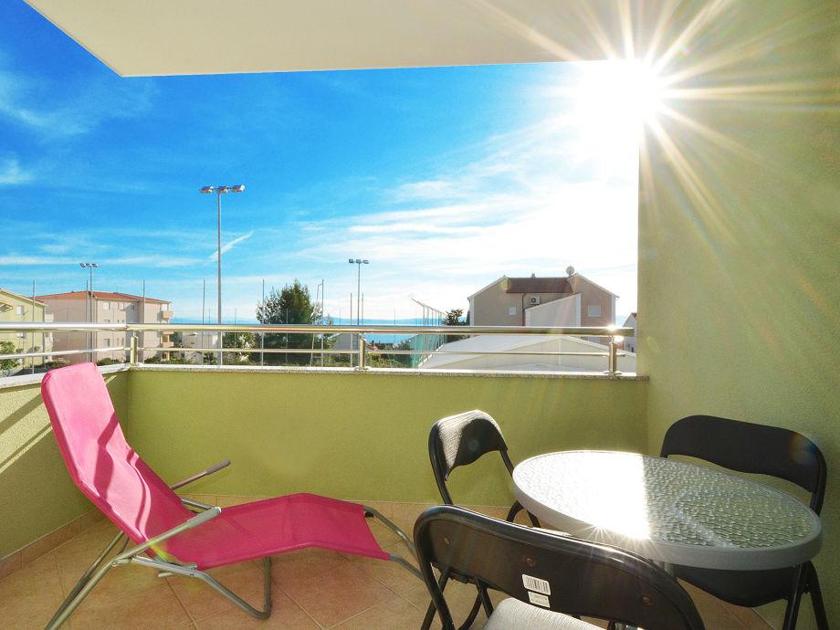 Balkon 8 m²