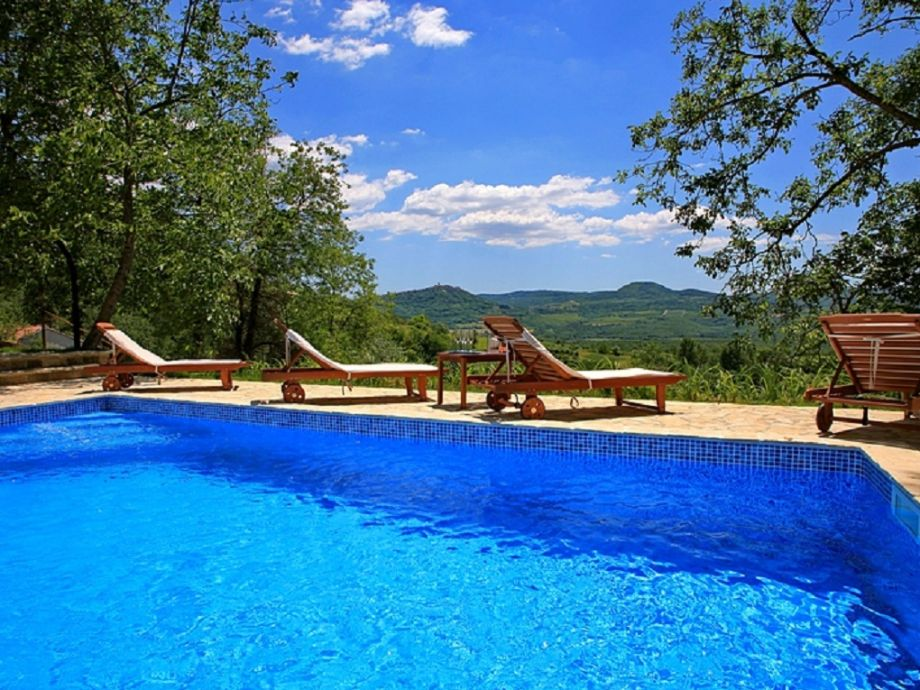 Ausblick auf den Pool