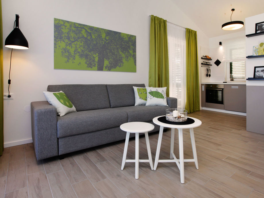 Wohnzimmer Liege Fur Zwei Villa Oliva Insel Brac Dalmatien Firma