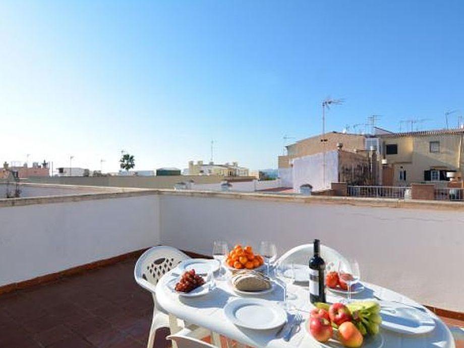 Dachterrasse perfekt für Mahlzeiten im Freien