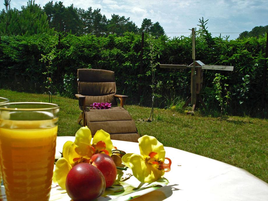 Entspannung finden Sie in unserem Garten