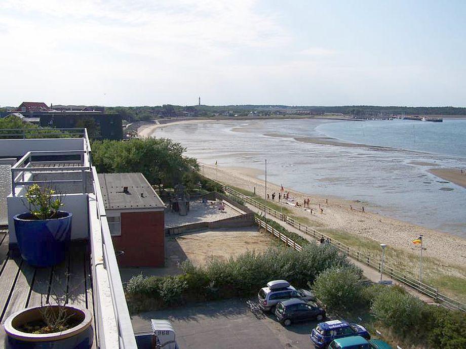 Nordseeblick von der Dachterrasse