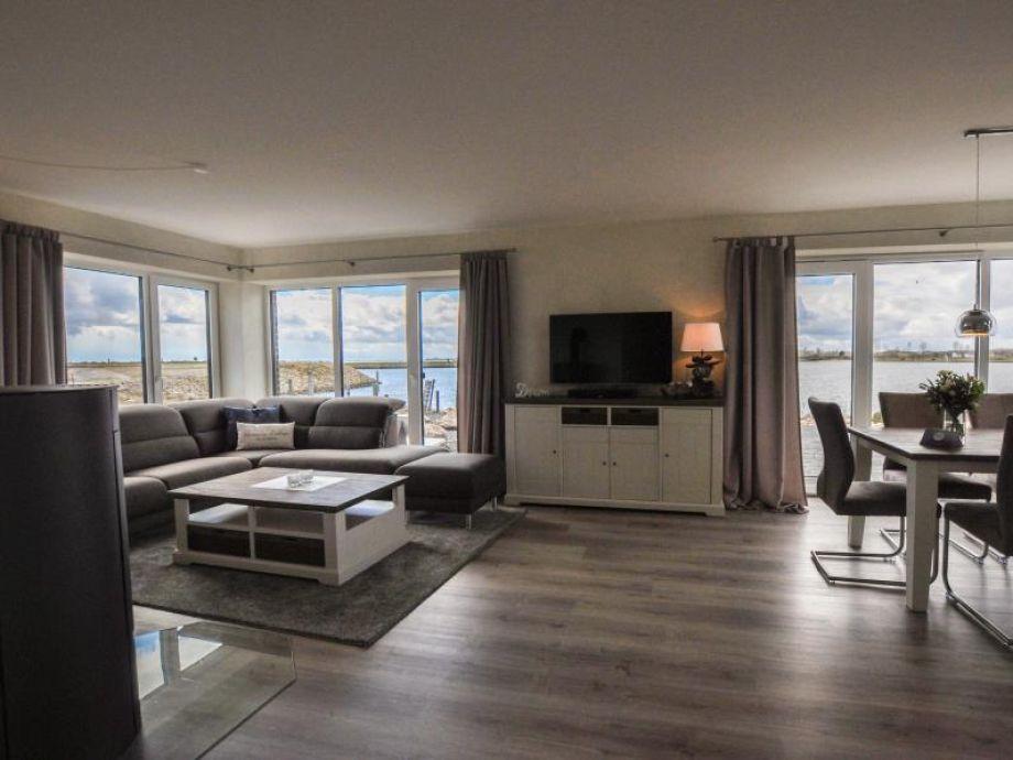 Ferienwohnung Schöne Aussicht auf der Ostsee Wohn-/Essbereich
