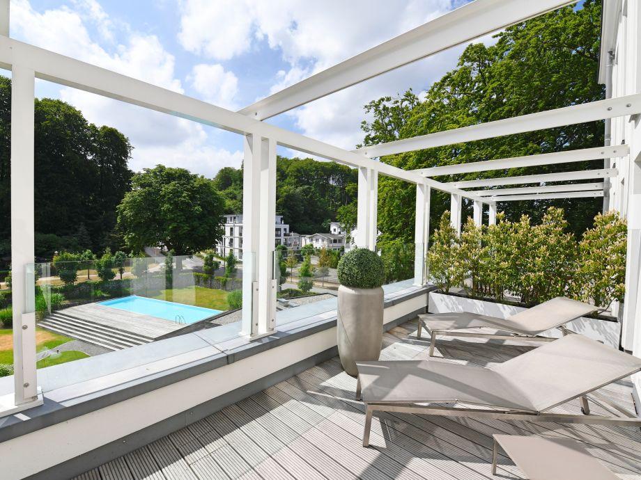 Außenaufnahme Spa Penthouse Binz in Villa Amalie