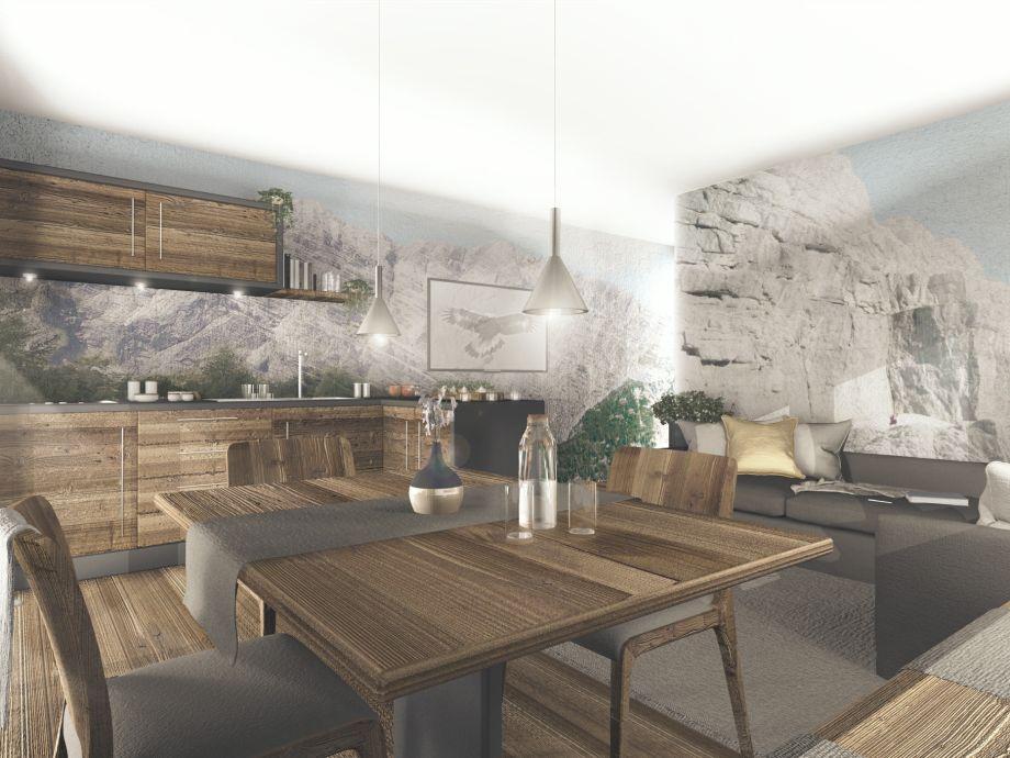 Neu 2018: Moderner Wohnbereich in den Fewo Sonnenadler